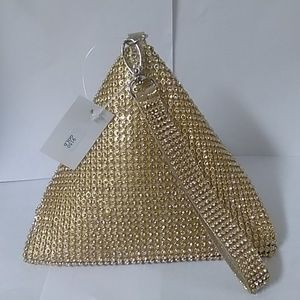 Triangle Rhinestones Wristlet Bag